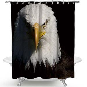 Unique Shower Curtain Eagle 3D Printed Bath Curtain