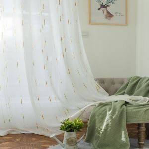 Korean Aesthetical Sheer Curtain Versatile Jacquard Sheer Curtain Colorful Raindrop Fabric(One Panel)