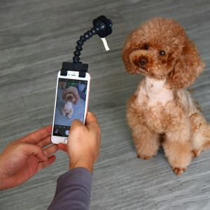 Pet Selfie Stick Toy Dog Photograph Mobile Phone Clip
