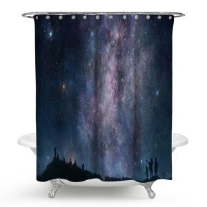 Cool Shower Curtain Aesthetical 3D Digital Galaxy Printed Bath Curtain