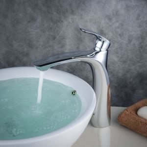 Contemporary Sink Faucet Chrome Polished Sink Faucet Single Handle Faucet BL6628H