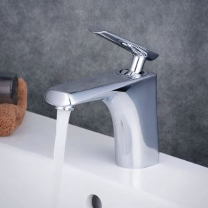 Contemporary Sink Faucet Chrome Polished Sink Faucet Bathroom Sink Faucet