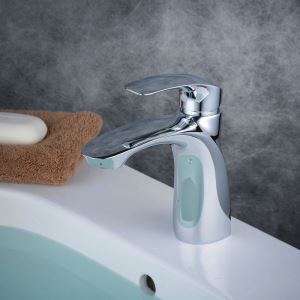 Contemporary Sink Faucet Chrome Polished Sink Faucet Single Handle Tap BL6628