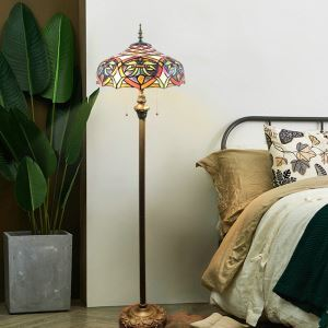 Stained Glass Floor Lamp Tiffany Shade Lamp European Style Retro