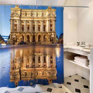 Waterproof Shower Curtain 3D Lifelike Egyptian Scenery Printed Bath Curtain