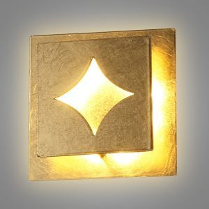 Modern Simple LED Wall Light Square Gold Foil Sconce