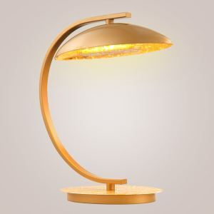 Modern Simple LED Table Lamp Gold Foil Table Lamp