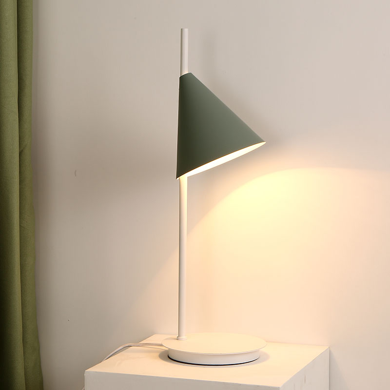 Modern Simple Table Lamp Cone Shade Table Lamp Bedside Study Room  Lighting Img_1 ...
