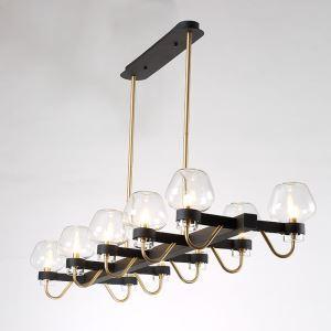 Modern Vintage Chandelier Bedroom Dining Room Lighting Glass Shade 10-lights