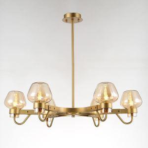 Modern Vintage Chandelier Bedroom Dining Room Lighting Glass Shade 6-lights