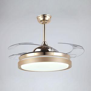 Modern Fan Ceiling Light Mute Fan Light Exquisite Simple Shape Decoration Light with Remote Control