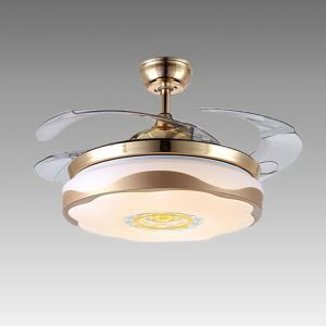 Modern Ceiling Fan Light Mute Fan Light Exquisite Acrylic Leaf Decoration Light with Remote Control