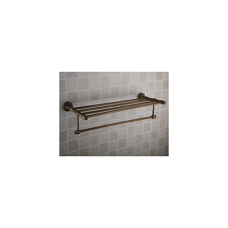 Bathroom Towel Bars Antique Brass Ti Pvd Finish Wall Mounted Bathroom Shelf With Towel Bar