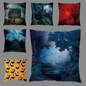 Horrible Night Scene Pillow Case Halloween Theme Breathable Pillow Cover