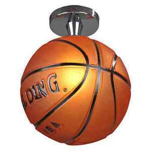 Modern Semi Flush Mount Ceiling Light with Basketball Feature