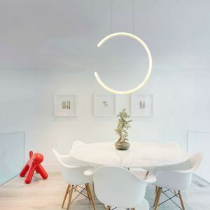 Modern Simple LED Pendant Light Fashional C Shape Pendant Light Energy Saving Light