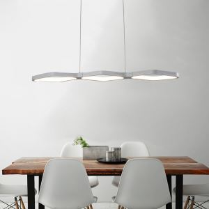 Modern Simple LED Pendant Light Fashional Diamond Pendant Light Energy Saving Light