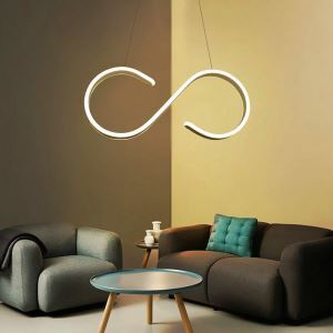 Modern Simple LED Pendant Light Fashional S Shape Pendant Light Energy Saving Light