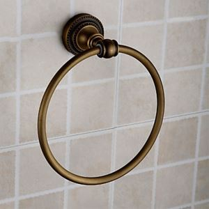 Antique Brass Ti-PVD Finish Wall-mounted Towel Ring