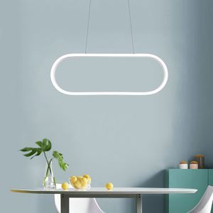 Modern Simple LED Pendant Light Fashional Elliptical Pendant Light Energy Saving Light