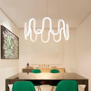 Modern Simple LED Pendant Light Fashional Curved Line Pendant Light Energy Saving Light