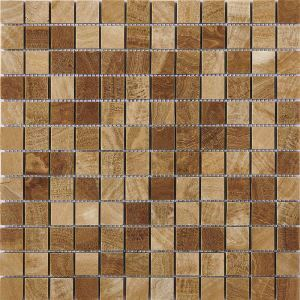 Square Ceramic Mosaic Tile Beige Wall and Bathroom Decor Tile