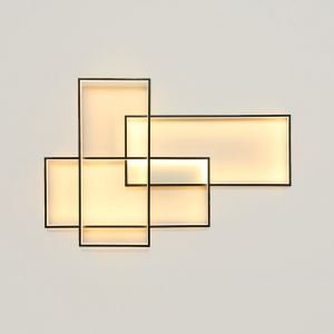 Modern Simple LED Ceiling Light Fashionalal Square Ceiling Light Bedroom Study Light