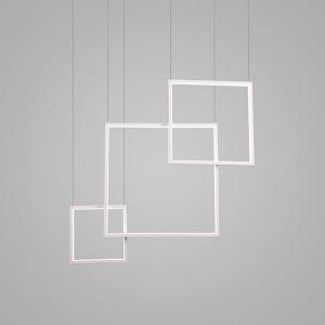Modern Simple LED Pendant Light Fashionalal Square Pendant Light Bedroom Study Light
