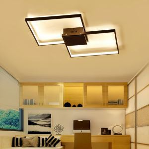 Flush Mount LED Ceiling Light Modern Simple Acrylic Ceiling Light Unique Quadrate Light Energy Saving Light