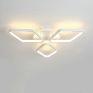 Flush Mount LED Ceiling Light Modern Simple Acrylic 3 Diamonds Ceiling Light Energy Saving Light