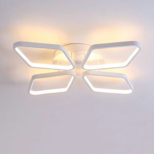 Flush Mount LED Ceiling Light Modern Simple Acrylic 4 Diamonds Ceiling Light Energy Saving Light