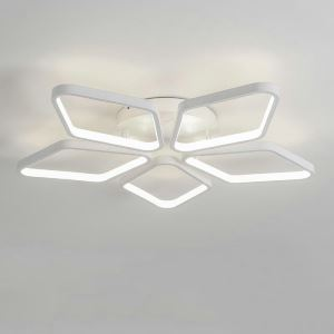 Flush Mount LED Ceiling Light Modern Simple Acrylic 5 Diamonds Ceiling Light Energy Saving Light