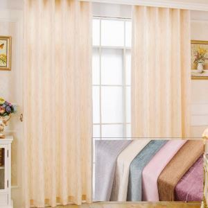 Modern Simple Curtain Meteor Jacquard Curtain Soft Chenille Bedroom Living Room Fabric