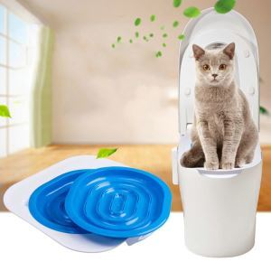 Kitten Toilet Supplies Cat Toilet Using Training Supplies Cat Pedestal Pan Circle