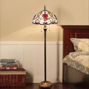 Tiffany Floor Lamp Handmade Colorful Special Pattern Standard Lamp