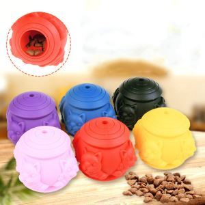 Dog Molar Toy Pet Food Leaking Ball Silica Gel Bite Toy