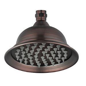 Antique Bronze Finish 6 Inch 8 Inch Brass Rainfall Shower Head