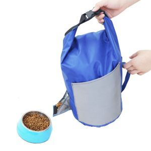 Pet Food Bag Portable Dog Food Bag Foldable Outdoor Food Large Storage Bag
