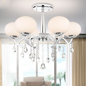 Crystal Chandeliers     Modern  Contemporary Living Room  Dining Room Lighting Ideas Metal Ceiling Lights