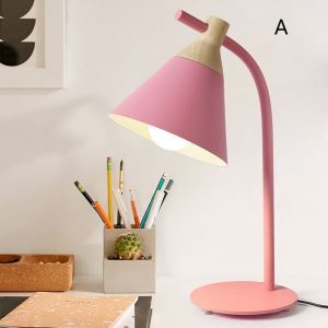 Postmodern Iron Table Lamp Cone Shade Table Lamp Pink/Pinkish Blue/Yellow/Gray Light