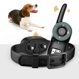 Pet Anti Barking Device Large Dog Small Dog Training Device Waterproof Charging Shocking Remote Controlled Collar