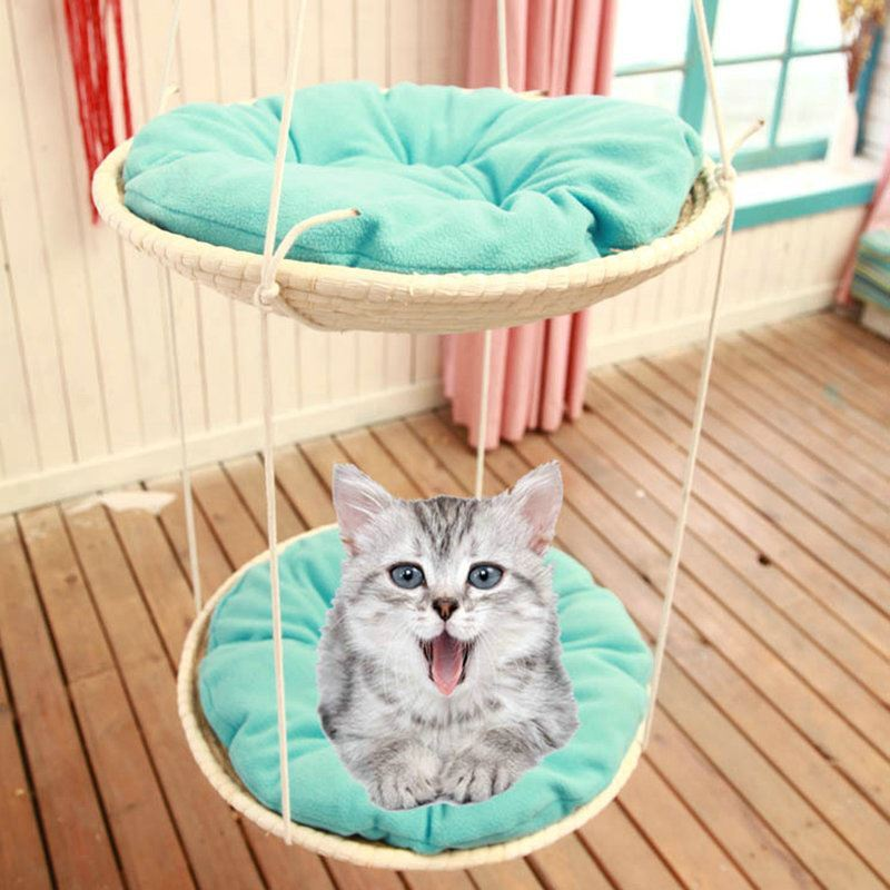 Grass Cat Hammock Cat House Cat Bed Kitten Basket