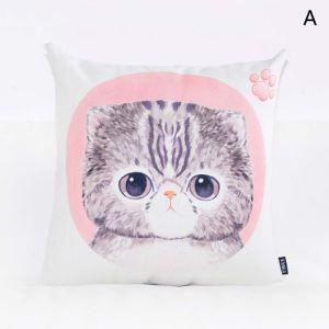 Cute Animal Pillow Cover Pink Lumbar Pillow Cover Flax Pillow Case