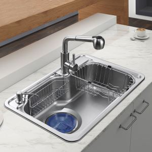 Contemporary Kitchen Sink 304 Stainless Steel Sink MF6846B