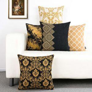 European Retro Pillow Cover Classical Flower Lumbar Pillow Cover Soft Pillow Case