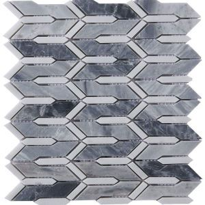 Modern Marble Mosaic Tile Gray and White Decor Tile