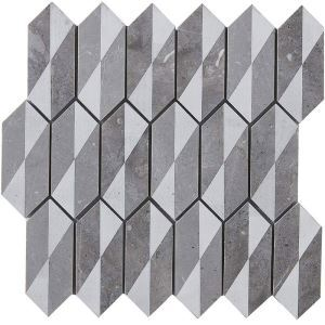 3D Marble Mosaic Tile Modern Gray Decor Tile