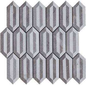 3D Marble Mosaic Tile Contemporary Gray Decor Tile