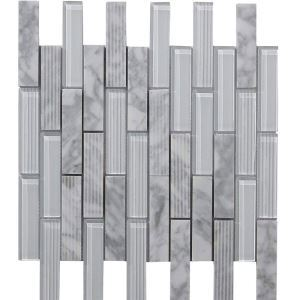 Marble Glass Mosaic Tile Contemporary Gray Decor Tile