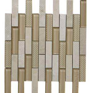 Marble Glass Square Mosaic Tile Contemporary Light Yellow and White Wall Decor Tile